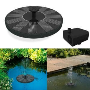 Solar Powered Bird Fountain Pump