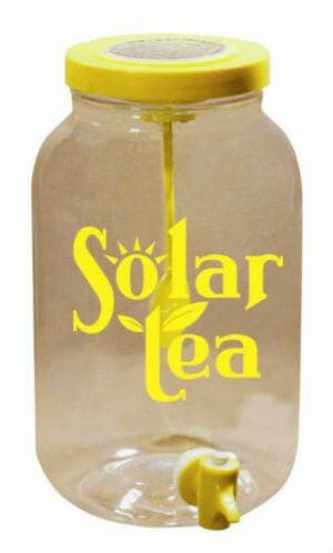 Solar Powered Sun Tea Jar Plastic Jar