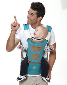 Ergonomic Baby Carrier With Hip Seat From Brighter Elements