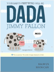 Your Baby's First Word Will Be DADA Board Book