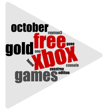 October Games With Gold Wordcloud