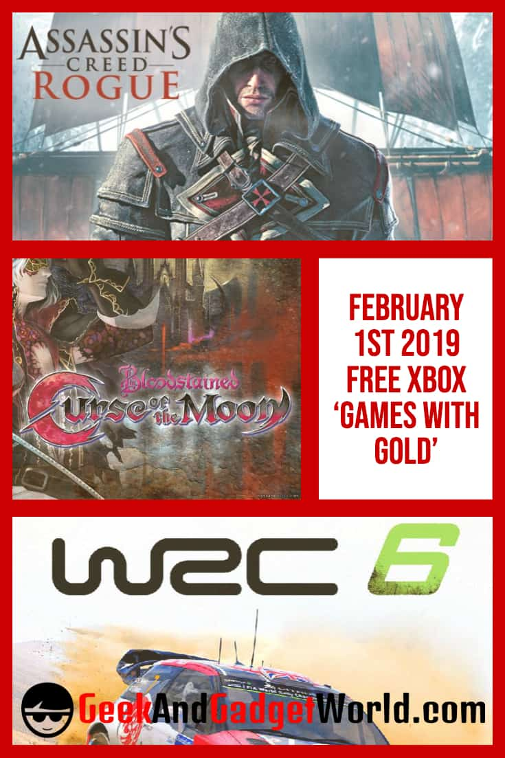 February 1st 2019 Free Xbox 'Games With Gold' | GAGW