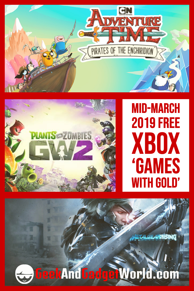 Mid March 2019 Free Xbox Games With Gold Pinterest